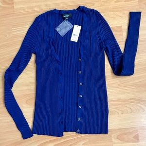 Royal Blue Rib Cardigan